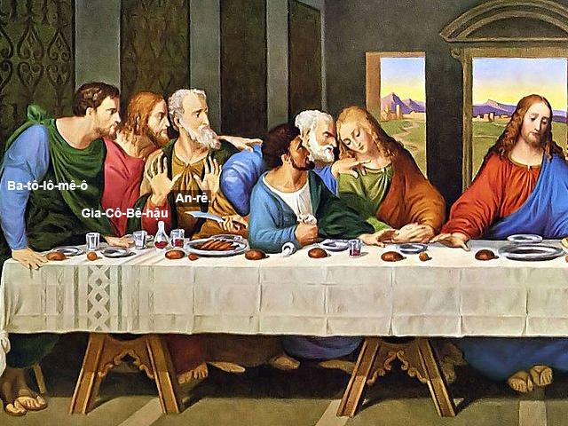 Tranh Tiệc Ly - 12 Thánh Tông Đồ là những ai ? 3a