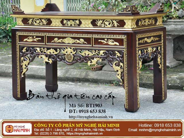 Kích thước bàn thờ Gia Tiên hợp phong thủy tâm linh  03