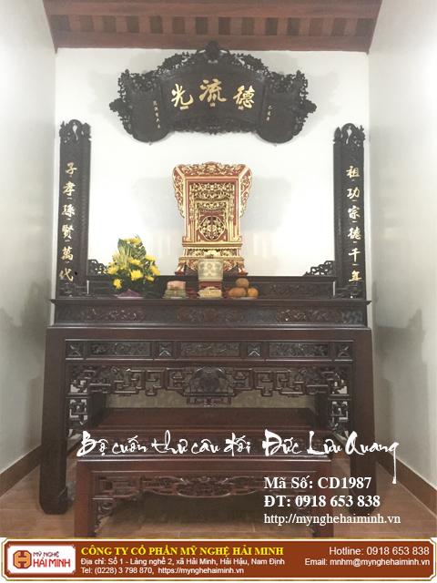 Kích thước bàn thờ Gia Tiên hợp phong thủy tâm linh  02