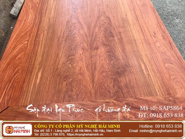 Sập Ngũ Phúc cỡ đại gỗ hương đá - Mã số: SAP5864 - 02