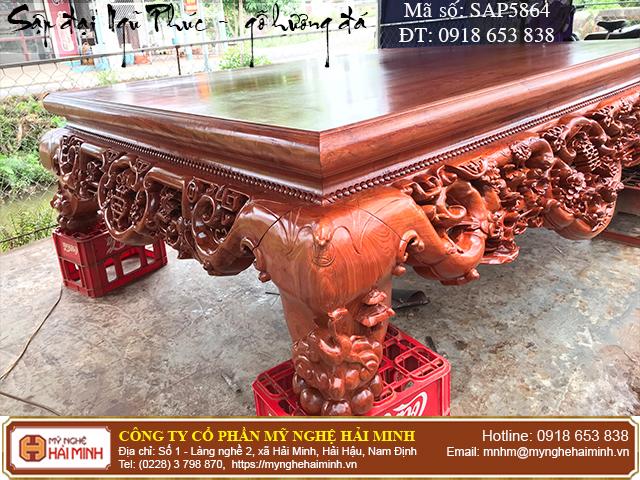 Sập Ngũ Phúc cỡ đại gỗ hương đá - Mã số: SAP5864 - 05