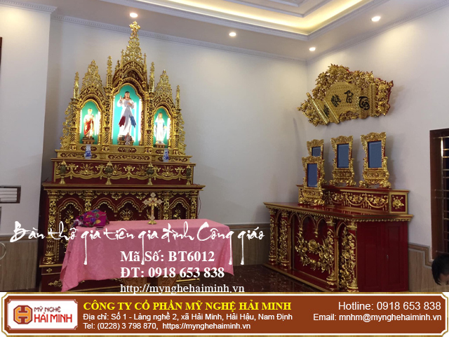 Cách sắp xếp Tượng trên bàn thờ Thiên Chúa tại gia đình 09