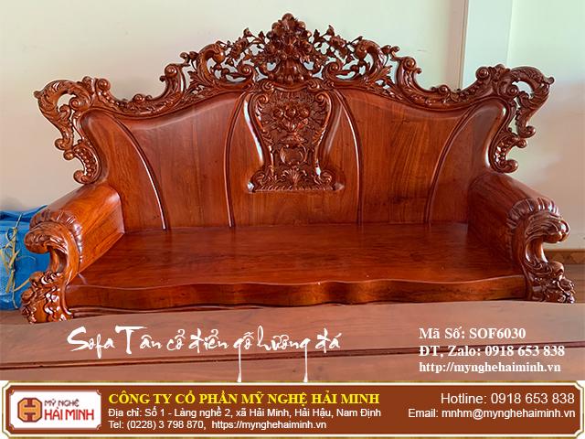 Bộ Sofa Tân cổ điển gỗ hương đá 03