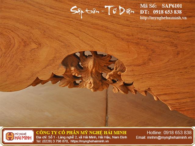 Sập trơn gỗ hương đá quây tứ diện - Mã số: SAP6101 5