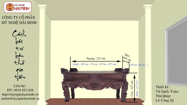 Kích thước bàn thờ Gia Tiên hợp phong thủy tâm linh