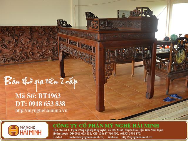 Kích thước bàn thờ Gia Tiên hợp phong thủy tâm linh  08